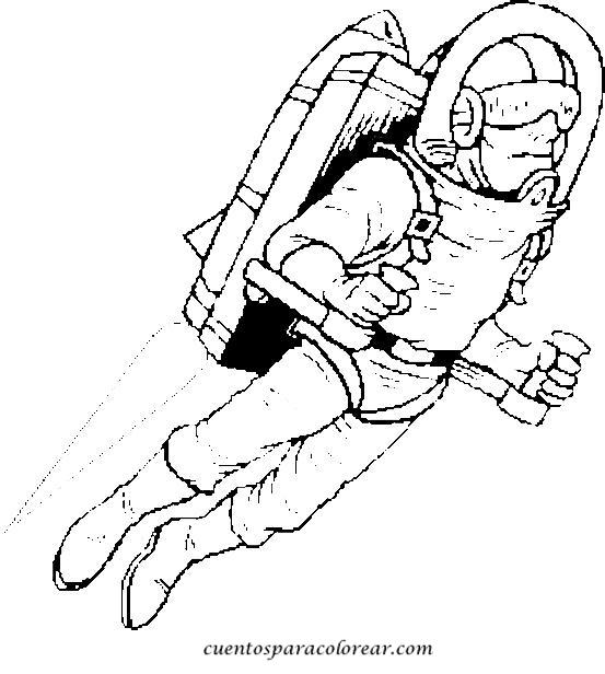 Dibujos para colorear astronautas