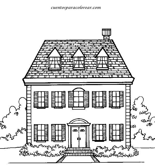 Dibujos para colorear casas