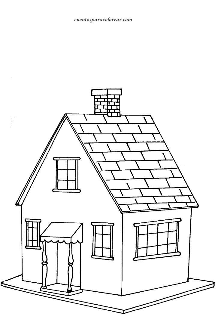Dibujos para colorear casas for Pintar en casa
