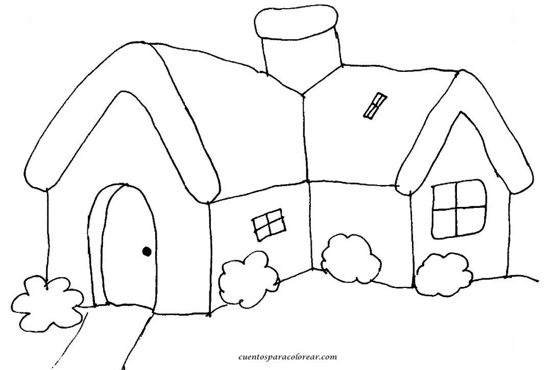 para colorear casas