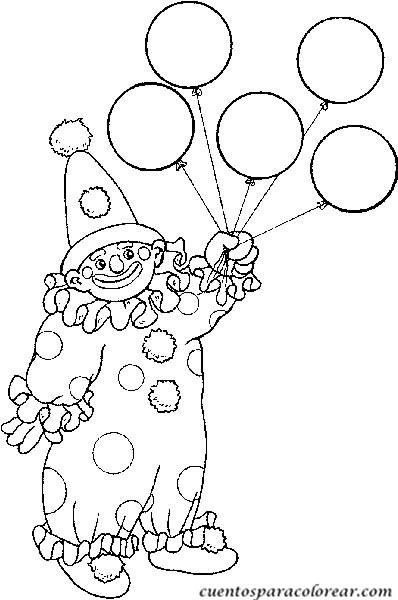 Dibujos para colorear el circo