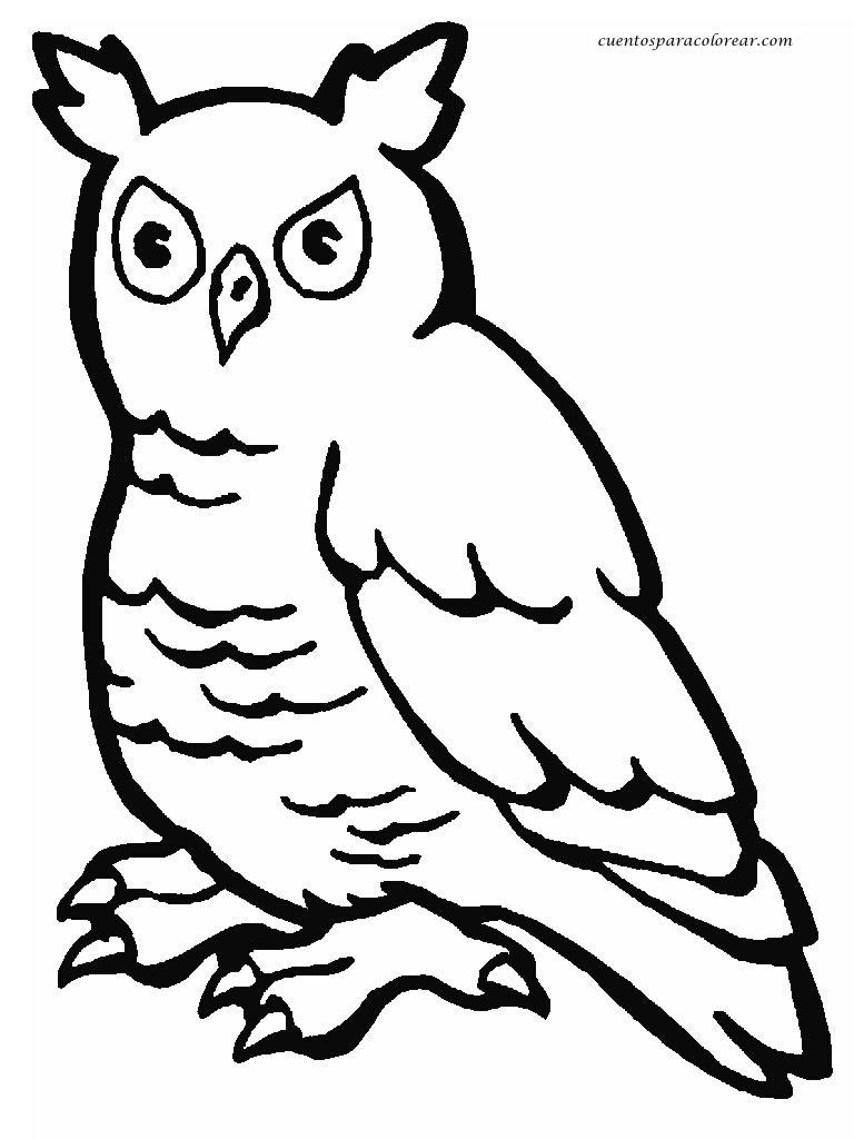 Vistoso Páginas Para Colorear De Búhos Componente - Dibujos Para ...