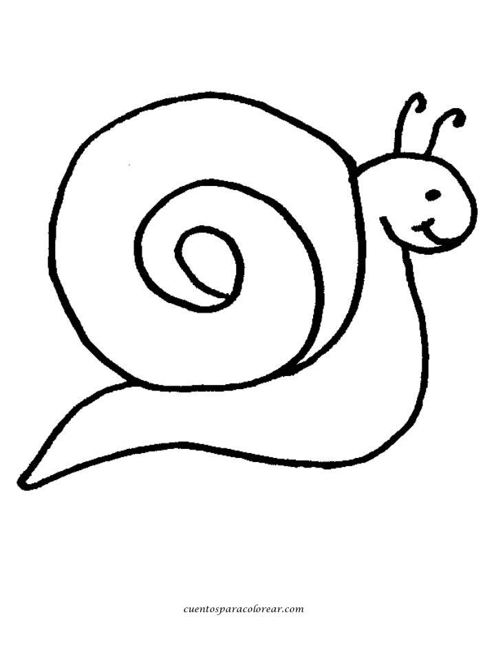 Dibujos para colorear caracoles for Imagenes de cuadros abstractos para colorear