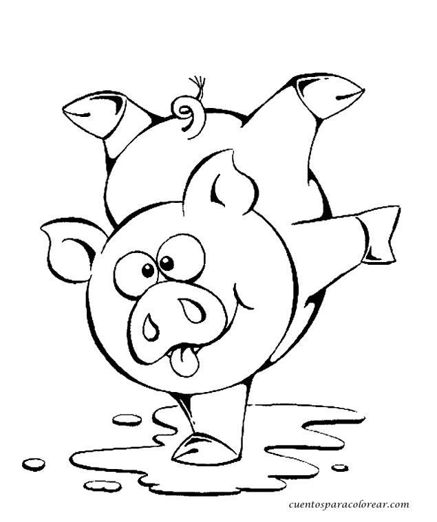Dibujos para colorear cerdos