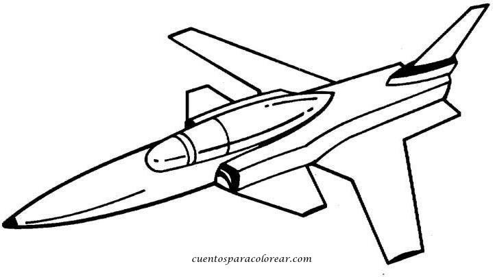 Dibujos para colorear aviones