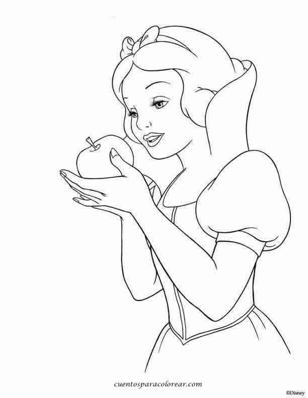 Dibujos para colorear Blancanieves