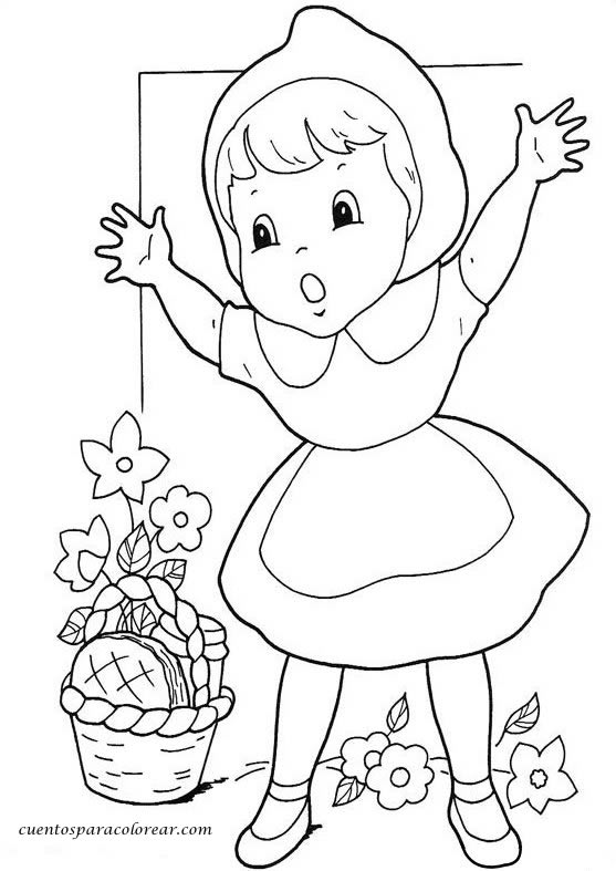 Dibujos para colorear Caperucita Roja