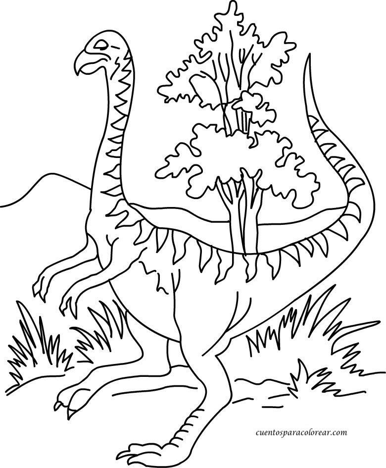 para colorear Dinosaurios