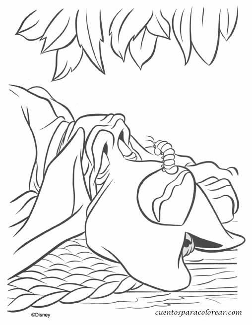 Dibujos para colorear Dama y vagabundo Dosney