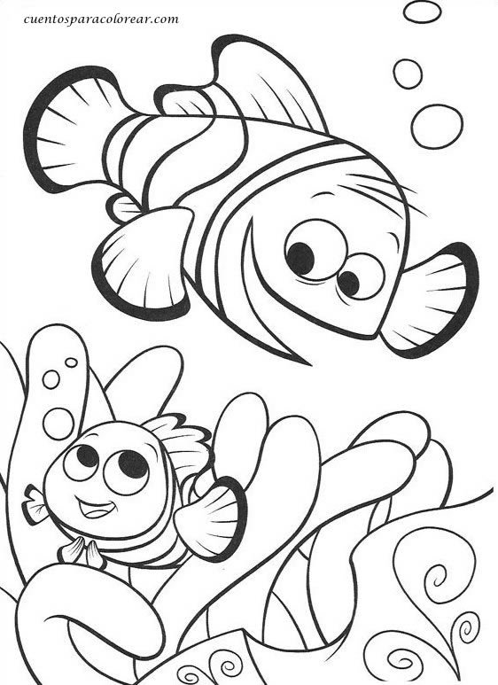 Dibujos para colorear Nemo Disney