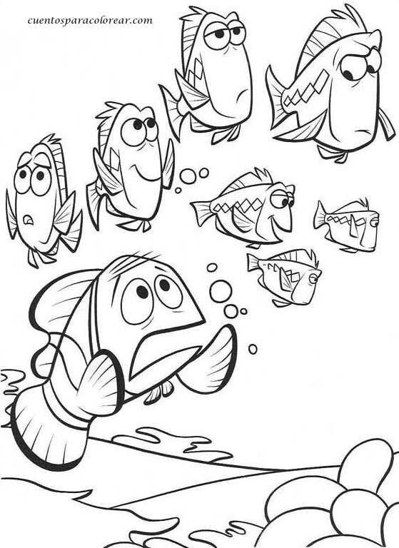 Dibujos para colorear nemo disney for Pesce nemo da colorare