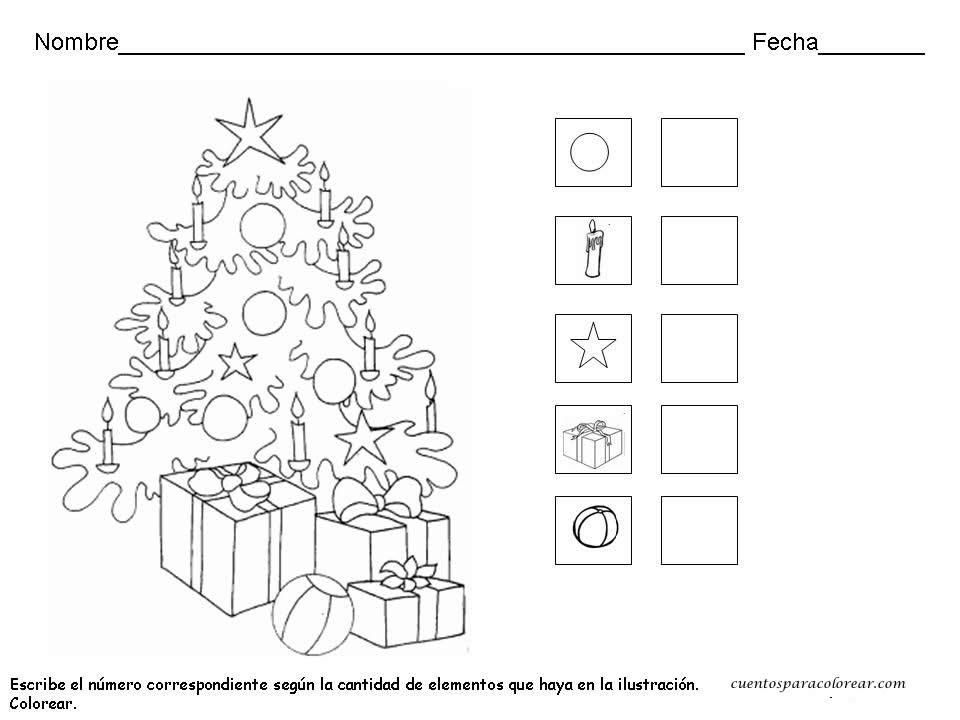 Fichas educativas de navidad for Actividades de navidad para colorear