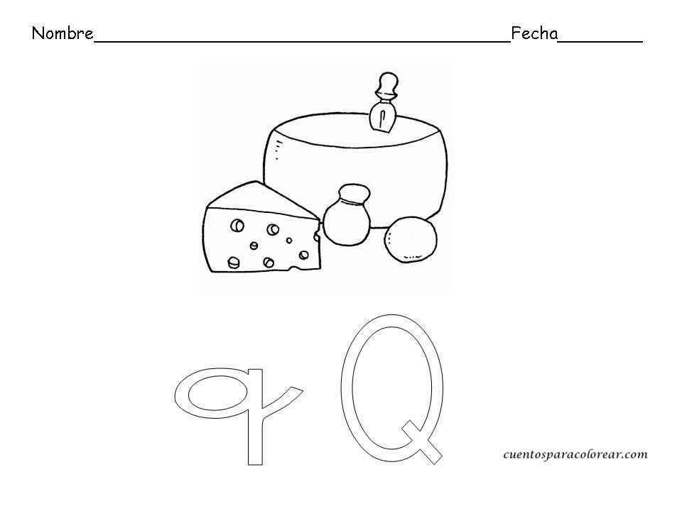 Dibujos Para Colorear Letra Q: Fichas Educativas De Letras
