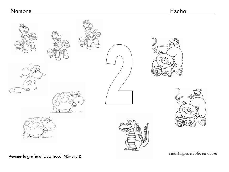 Dorable Número 2 Hoja Para Colorear Imagen - Dibujos Para Colorear ...