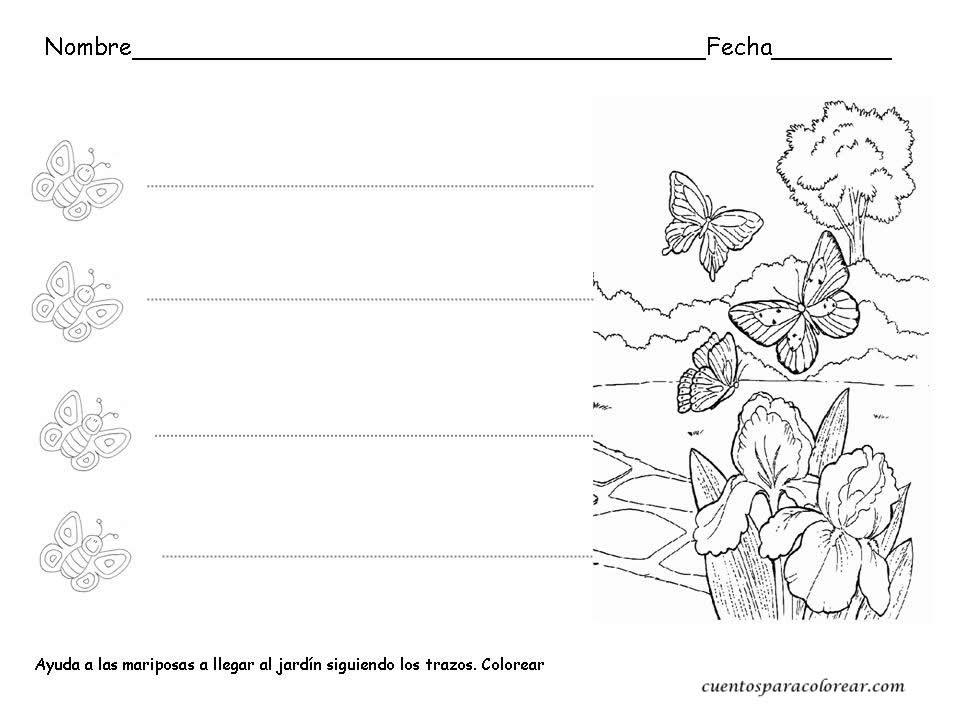 Increíble Páginas Para Colorear De Preescolar Primavera Bandera ...