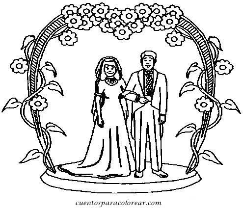 Dibujos para colorear boda - Coloriage maries ...