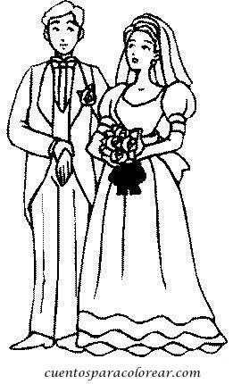 dibujos para colorear boda
