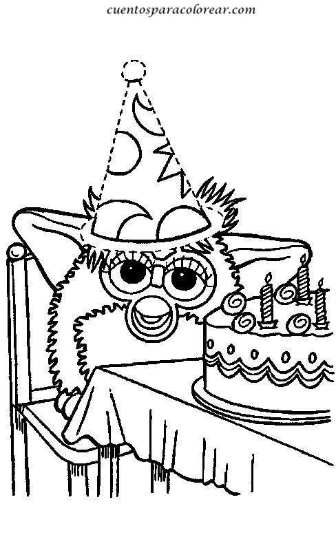Ya Kleurplaat Dibujos Para Colorear Furby