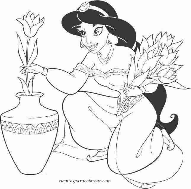 Dibujos para colorear Jasmine