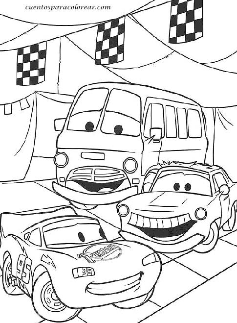 Dibujos Para Colorear Cars - Dibujos Para Dibujar