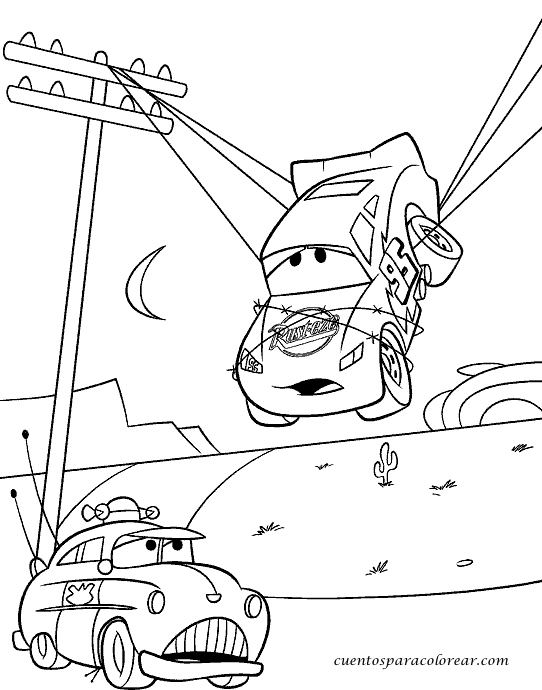 Dibujos para colorear Cars