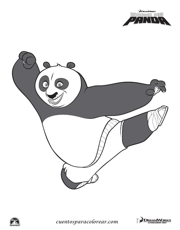 Dibujos para colorear Kungfu Panda