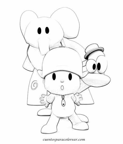 Dibujos para colorear Pocoy