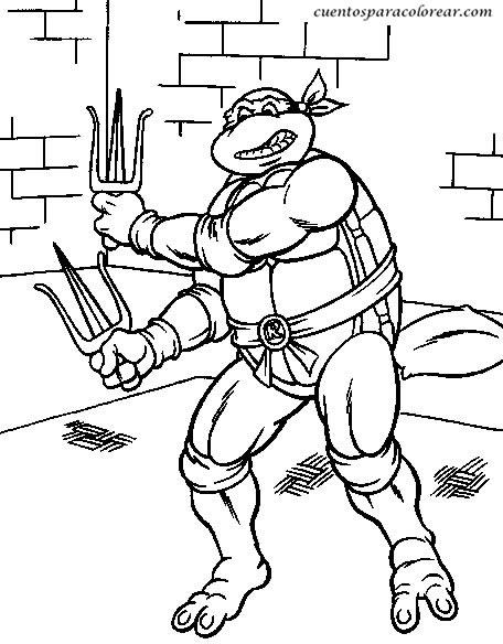 Dibujos Para Pintar Tortugas Ninja - Dibujos Para Pintar