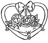dibujos para colorear y pintar de la boda