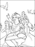 dibujo de fiona para colorear dibujos de shrek colorear y pintar para niños imprimir dibujos infantiles