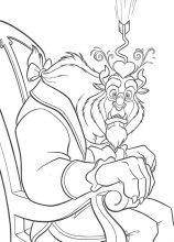 Dibujos para colorear La bella y la bestia