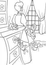 dibujos para colorear y pintar de la cenicienta