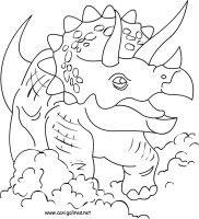 dibujos para colorear y pintar de dinosaurios
