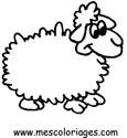 dibujo de una oveja para colorear dibujos de ovejas para colorear y pintar