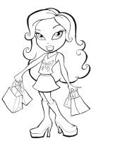 dibujo de Jade bratz para colorear dibujos de bratz para colorear y pintar para niños imprimir dibujos infantiles