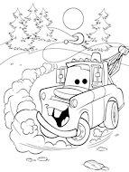 dibujo de Mate amigo de rayo para colorear dibujos de cars para colorear y pintar para niños imprimir dibujos infantiles