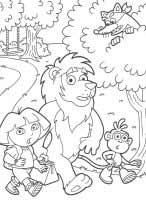dibujos de dorala exploradora para colorear y pintar para niños imprimir dibujos infantiles