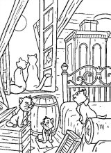 Dibujos para colorear Aristogatos