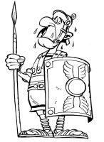 dibujo de un soldado romano enemigo de Asterix para colorear dibujos de asterix colorear y pintar para niños imprimir dibujos infantiles
