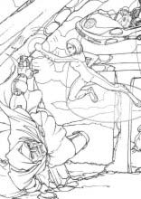 dibujos para colorear y pintar de los 4 fantasticos