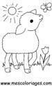 dibujos de ovejas para colorear y pintar