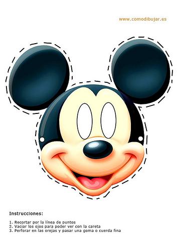 careta de Mickey mouse mascara antifaz