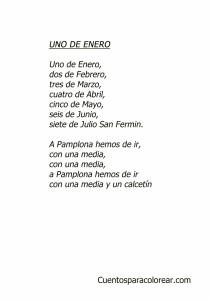San Fermín Uno de enero letra canciones infantiles