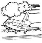 dibujos para colorear y pintar de aviones