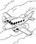 dibujo de un avion bimotor Dibujos para colorear aviones