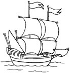 dibujo de un velero para colorear Dibujos para colorear barcos
