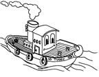 dibujo de un barco a vapor para colorear Dibujos para colorear barcos