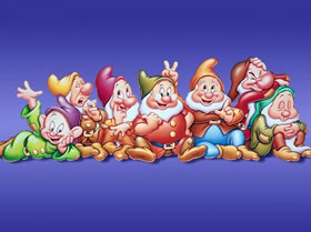 los siete enanitos de blancanieves personajes infantiles