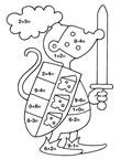 dibujos de sumas y restas para colorear y pintar para niños