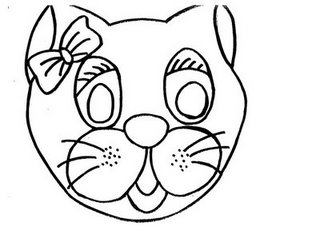 careta de una gata mascara antifaz